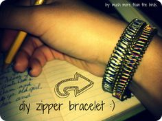much more than the birds.: diy zipper bracelet