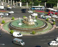La Fuente de la Cibeles en Madrid.