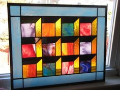 Illusion Panel in Stained Glass by GlassMonkeyArts on Etsy, $199.00