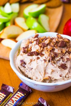 cinnamon toffee cheesecake dip for apples