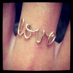 Love Ring. $8.00, via Etsy. - Click image to find more Women's Fashion Pinterest pins