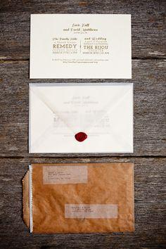 vellum envelope.