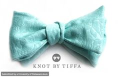 """Swimming"" bow tie designed by Tiffany Rogers, a 2008 UD alum who owns knot by TIFFA. Visit her website to see more http://www.knotbytiffa.com/"