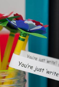 Show your students you care on the first day of school with these DIY Flower Pencil Toppers