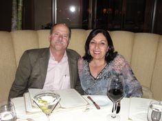 A married couple enjoy a relaxing meal at Andrea's Ristorante at Pelican Hill | www.pelicanhill.com |The Resort at Pelican Hill, Newport Beach, CA | #pelicanhillresort #memories