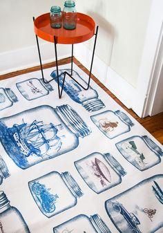 The Time Traveler's Life Rug - 4x6, #ModCloth curtains, 4x6, time travel, travel life, timeless style, rugs, retro vintage, life rug, vintage decor