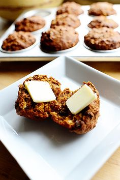 Whole wheat walnut flax muffins from the Pioneer Woman!