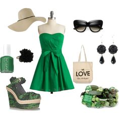 green and black