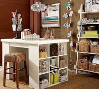 Twisted Tornado Lake: Craft Room Ideas Craft Space, Dream, Crafting Room, Craft Areas, Sewing Rooms, Craft Tables, Pottery Barn, Crafts, Craft Rooms