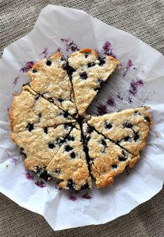 Paleo Blueberry Scones paleo blueberri, paleo scone, breakfast, food, blueberri scone, scones, gluten free, recip, blueberries