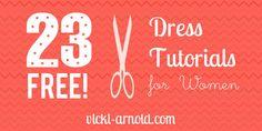 23 Free Dress Tutorials for Women.