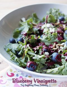Blueberry Vinaigrette is a great way to enjoy a fresh, summer salad!