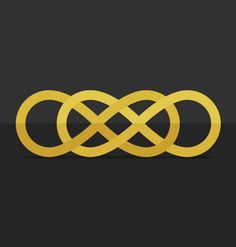 Infinity times infitinty / Double infinity. 8. A journey with no ending. #infinity #revenge #flat #icon #gold #grey #8 @Helga Tittjung Kaszewski C. Magallanes   http://paulinabm.tumblr.com/