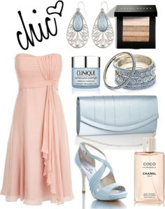 Chic in Peach and Blue, created by jemevangelista on Polyvore