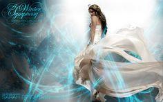 ... hair, movement, people, sarah brightman, silk, singer, white, woman