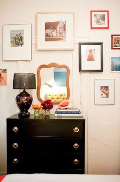 such a joyful space...joanna goddard's bedroom