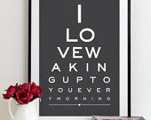 Just purchased for the hubby for Valentines day. Just thought it was a nice sentiment for the bedroom.