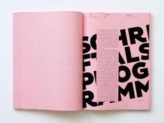 typografie standard by Tony Ziebetzki   small text over big type