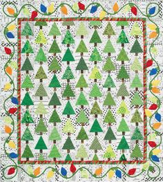 quilt design, quilt patterns, holiday lights, christmas lights, alex anderson, christmas trees, christma quilt, holiday quilts, alex o'loughlin