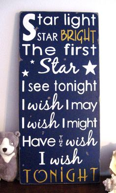 I used to wish on stars all the time....
