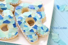Beach and Sea Glass Cookies