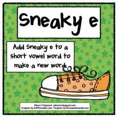 Sneaky E - Freebie as seen on Third Grade Troop    www.thirdgradetroop.com
