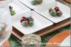 This fun spray painted acorn project is another great way to get ready for Fall and the Thanksgiving season.