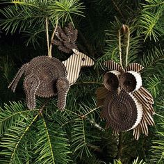 A fantastic recycled Christmas decoration made from corrugated cardboard