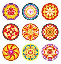 Indian floral patterns.