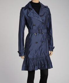 Take a look at this Flag Blue Belted Prairie Jacket by G.E.T. on #zulily today!