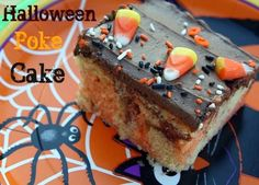 Mommy's Kitchen - Country Cooking & Family Friendly Recipes: Halloween Poke Cake {Jell-O Poke Cake}