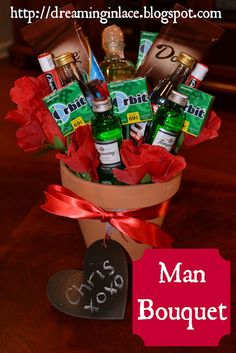 man bouquet for Valentines, Birthday, Easter or Father's Day!