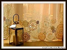 DIY doily curtains