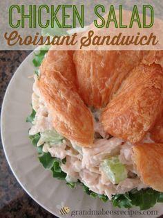 food chicken, croissant sandwiches, chicken salad croissant, amaz chicken, camping foods