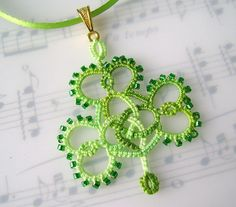 Tatting necklace from etsy seller yarnplayer