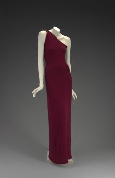 1976-1978, America - Cashmere evening dress by Halston