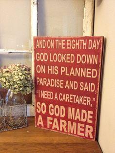 So God Made A Farmer - Paul Harvey Quote. $38.00, via Etsy.