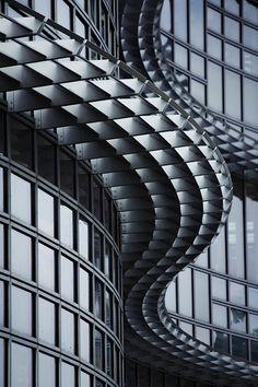 hani alghayhab, alcoa build, window, pattern, facad, art, wave, architecture, curv