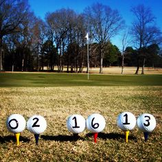 Golf themed Wedding Date Announcement #pgaweddings #golfcourseweddings