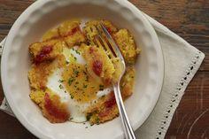 Blackberry Farm: Baked Eggs with Blackberry Farm Tomato Jam and Toasted Cornbread