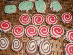 Refrigerator Cookies in Mint, Cinnamon, and Chocolate-perfect to make for the holidays!