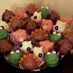 Animal fun cake pops
