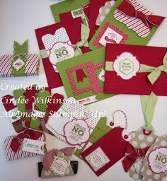 Just Sponge It: New Pop and Place Holiday Gift Tags Class you will make 12 Tags, 3 Candy Favors & 6 Cards.