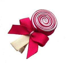 Lollipop Hair Bow Clip Ribbon Candy Girl by creationsbycharity, $4.99