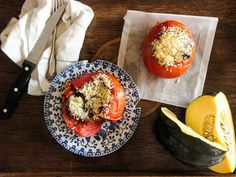 Quinoa Risotto Baked Tomatoes | 27 Delicious Ways To Use Tomatoes