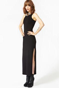 Long Night Maxi Dress in Black
