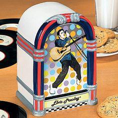NEW Young Elvis Presley Jukebox Cookie Jar