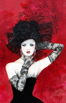 Black Lace Gloves by Kay Robinson