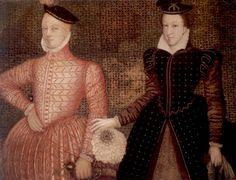 Mary, Queen of Scots, with her second husband Henry Stuart, Lord Darnley (left), parents of King James VI of Scotland, later James I of England.