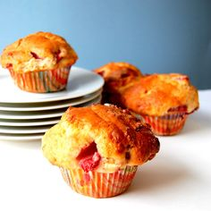 America's Test Kitchen Whole Wheat Strawberry Muffins via @HaveCakeEatToo